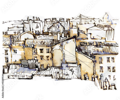 hand-made-sketch-of-old-street