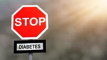 Stop Diabetes Problem Sign. Pr...