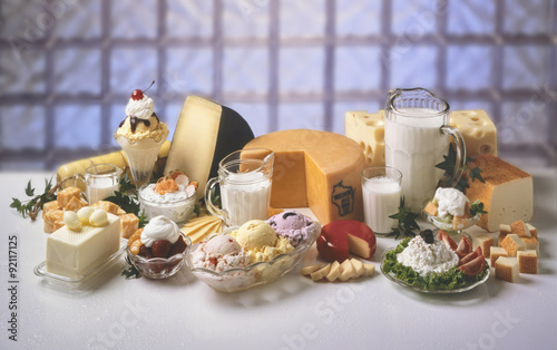 Recess Fitting Dairy products A variety of dairy products