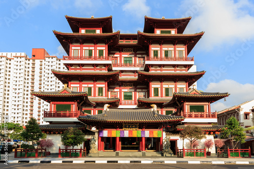 the Buddha's Relic Tooth Temple in Singapore Chinatown
