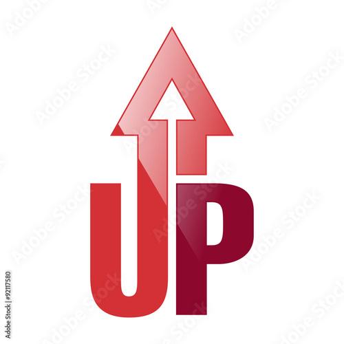 UP Arrow Logo Icon Symbol Wall mural