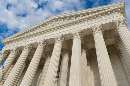 UNITED STATES supreme court building columns and portico Poster