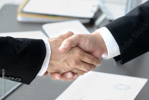ビジネスイメージ―契約成立 Poster