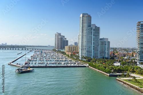 Foto op Plexiglas Chicago Aerial View of South Miami Beach
