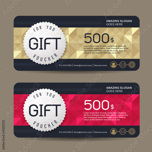 gift voucher template with premium pattern cute gift voucher