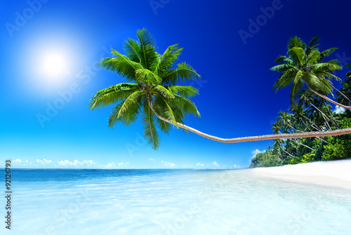 Staande foto Tropical strand Summer Beach Tropical Paradise Seascape Concept