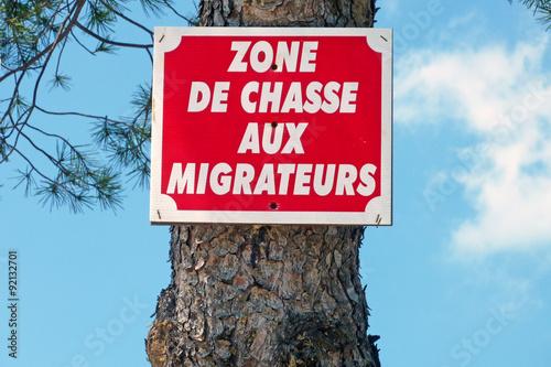 Photo  zone de chasse