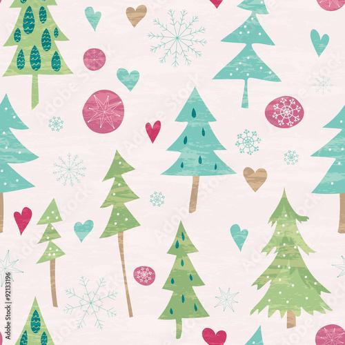 Stoffe zum Nähen Weihnachten und Neujahr nahtlose Muster