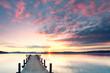 Sonnenaufgang am See - Herbst