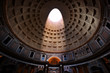 The Pantheon, Rome, Italy. Light shining through an oculus in the ceiling
