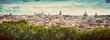 Leinwanddruck Bild - Panorama of the ancient city of Rome, Italy. Vintage