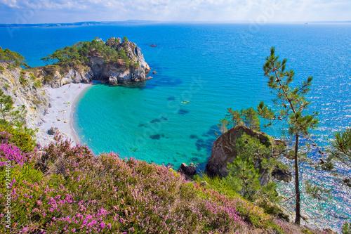 Fotografie, Obraz  Presqu'île de Crozon, Ile vierge, Prés du GR 34, au sud de Morgat, Finistère