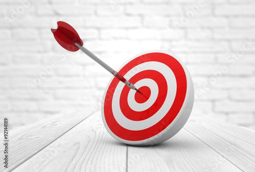Fotografía  red target dart