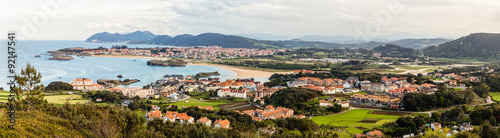 Panorama of Noja in Cantabria, Spain