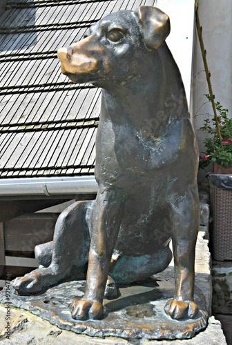 Kazimierz Dolny, pomnik psa na rynku Poster