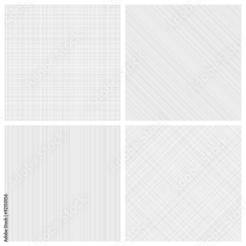 Valokuva Set of monochrome hatch seamless patterns