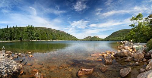 Fotografie, Obraz  Jordan Pond Panorama