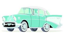 Caricatura Chevrolet BelAir 19...