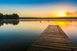 Herbstmorgen am Schwarzer See, Mecklenburgische Seenplatte