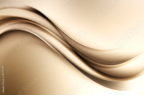 Poster Abstract wave Amazing Brown Gold Abstract Design
