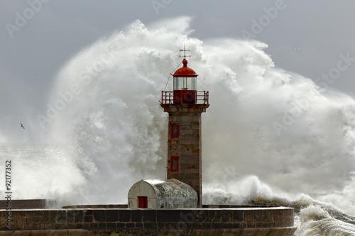 Fototapeta Big stormy waves obraz na płótnie