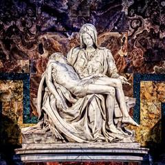 FototapetaPieta marble sculpture