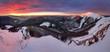 Small Fatra panorama at sunrise