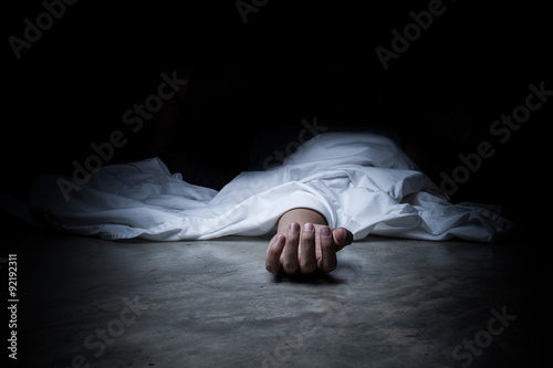 Canvas Print dead body