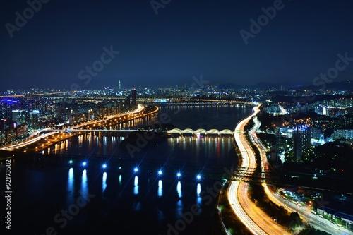 Photo  漢江の夜景 韓国・ソウル
