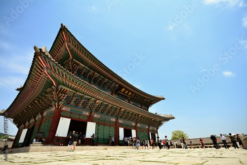 Fotografía  韓国 世界遺産 景福宮 勤政門の風景