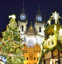 Prague At Christmas, Czech Rep...