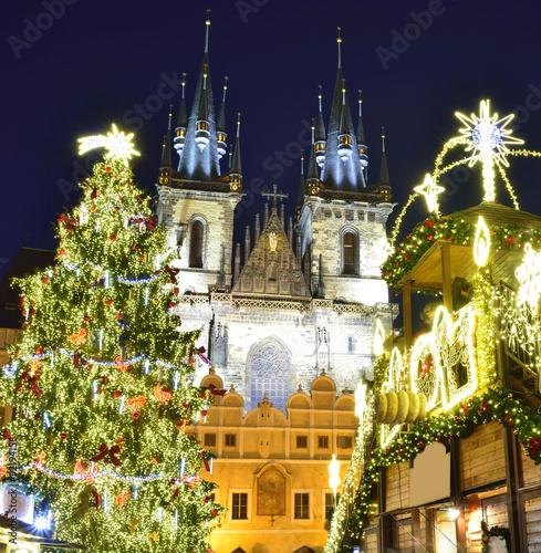 Prague at Christmas, Czech Republic Poster