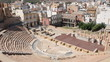 Amphitheater Romano with views of a Cartagena, Spain