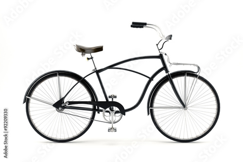 In de dag Fiets Retro bicycle on a white background.