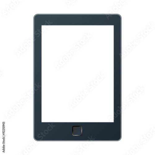 Fotografia Portable e-book reader with two clipping path for book and screen