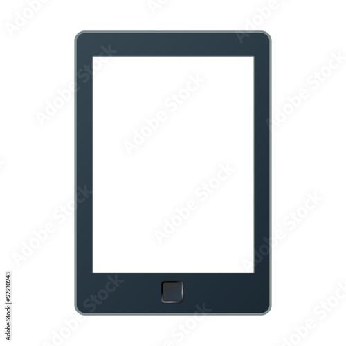 Fotografía Portable e-book reader with two clipping path for book and screen