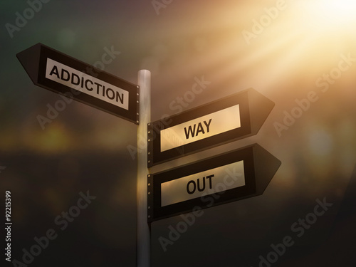 Photo Addiction way out problem sign