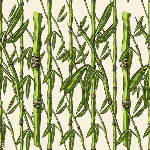 wzor-z-bambusami