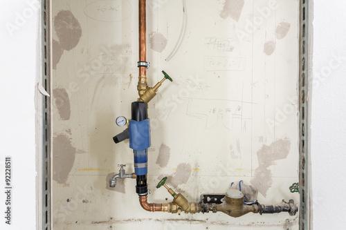 Fototapety, obrazy: Rohr Wasserleitung  Baustelle