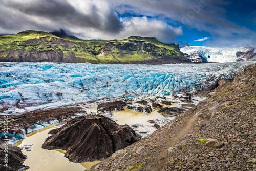 Printed kitchen splashbacks Glaciers Stunning Vatnajokull glacier and mountains in Iceland