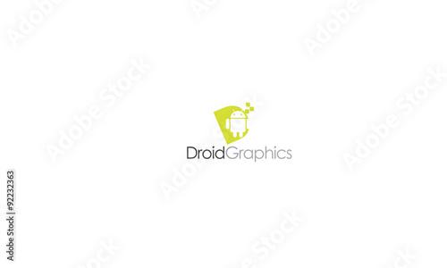 Fotografia, Obraz  droid graphic logo
