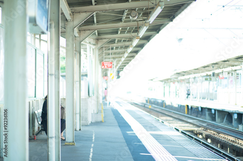 Foto op Canvas Treinstation 駅のホーム