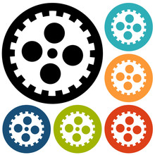 Gears Isolated Object , Technical, Mechanical Illustration