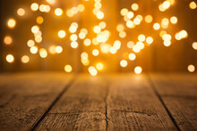 Christmas Bokeh Background Wit...