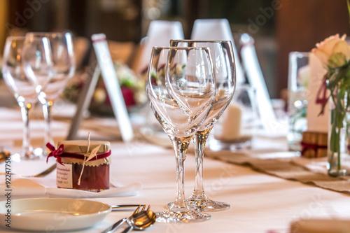 Zdjęcie XXL Określony stół w okularach
