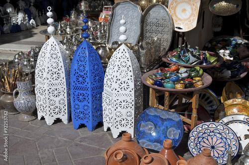 Place Jamaa el Fna, vendeur ambulant - Marrakech - Maroc