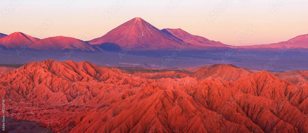 Fototapeta Catarpe, Licancabur volcano, Atacama desert, Chile