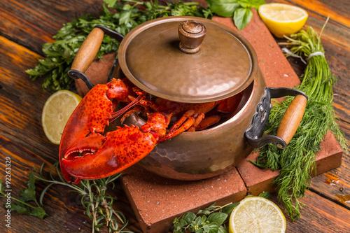 Poster  Boiled lobster