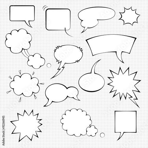 Fotografía  Comic speech bubble set