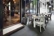 canvas print picture - restaurant interior